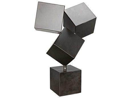 Noir Furniture Cubist Metal Sculpture