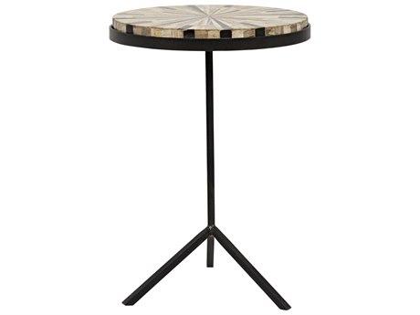 Noir Furniture Katana Petrified Wood 16.5'' Round Pedestal Table
