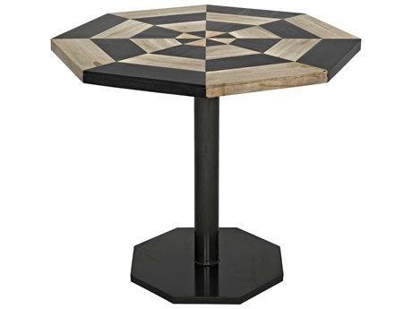 Noir Furniture Irina Fossil Inlaid 35.5'' Octagonal Dining Table
