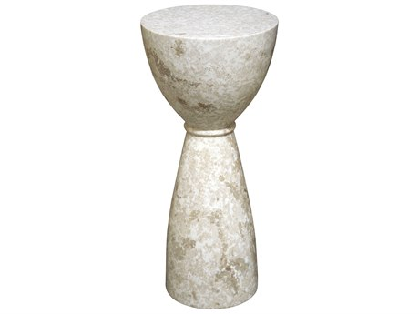 Noir Furniture Architect B Marble 10'' Round Pedestal Table