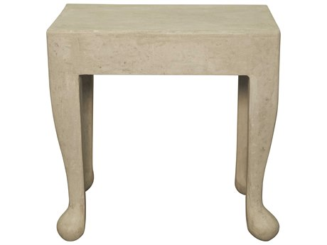 Noir Furniture Hoof Fiber Cement 24'' x 17.5'' Rectangular Side Table