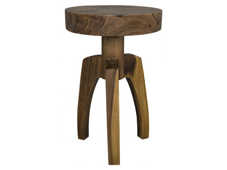 Noir Furniture Troy Munggur Wood 16.5'' Round Pedestal Table