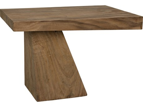 Noir Furniture Achilles Munggur Wood 29.5'' x 19.5'' Rectangular End Table