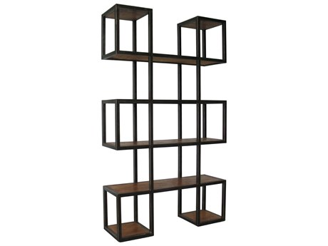 Noir Furniture Block Wooden Etagere Bookcase