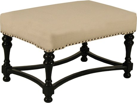 Noir Furniture Bourbon Hand Rubbed Black Stool