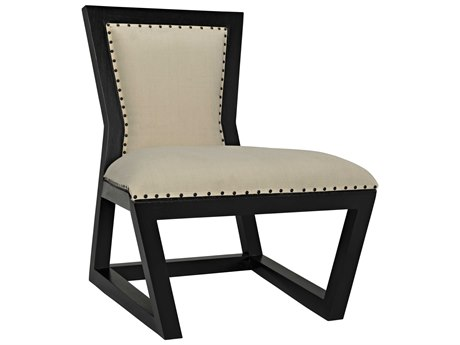 Noir Furniture Rado Barley & Hand Rubbed Black Dining Side Chair
