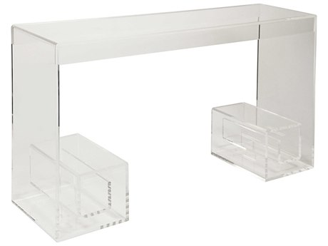 Noir Furniture Rupert Acrylic 54'' x 15'' Rectangular Console Table