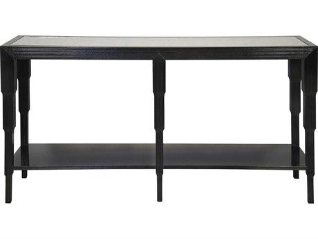 Noir Furniture Arta Distressed Black 61.5'' x 16'' Rectangular Console Table