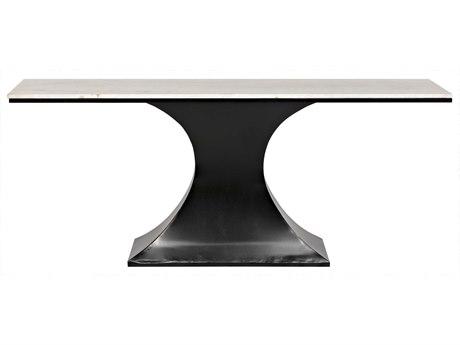 Noir Furniture Curtise Metal & Quartz 76'' x 19.5'' Rectangular Console Table