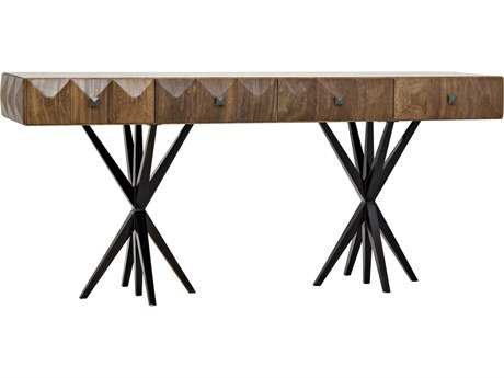 Noir Furniture Gemma Dark Walnut 74'' x 20'' Secretary Desk