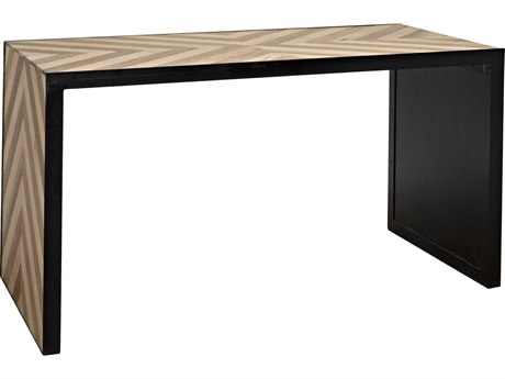 Noir Furniture Herringbone Teak 55.5'' x 28'' Secretary Desk
