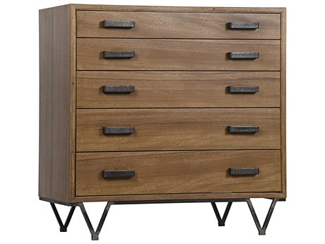 Noir Furniture Kimala Walnut Five-Drawer Chest