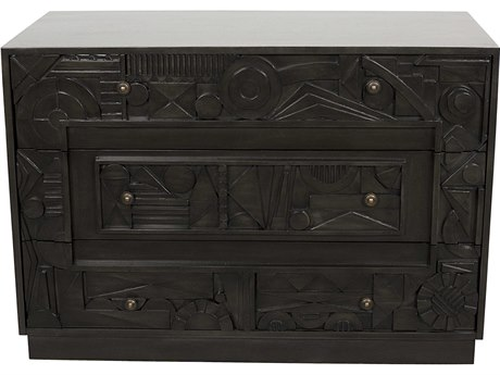 Noir Furniture Evens Pale Three-Drawer Single Dresser