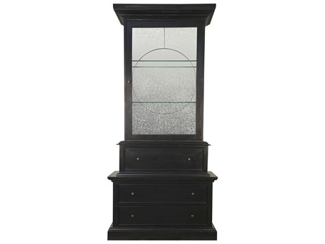 Noir Furniture Trellis Hand Rubbed Black 49'' x 20.5'' China Cabinet