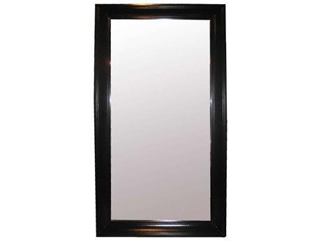 Noir Furniture Colonial Black 45'' x 86'' Rectangular Large Floor Mirror