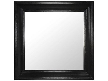 Noir Furniture Colonial Black 40'' Square Wall Mirror