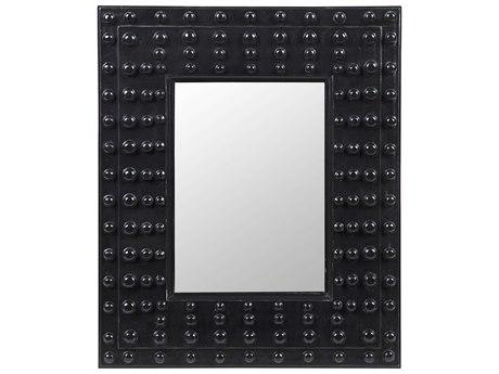 Noir Furniture Darko Hand Rubbed Black 26'' x 31'' Rectangular Wall Mirror