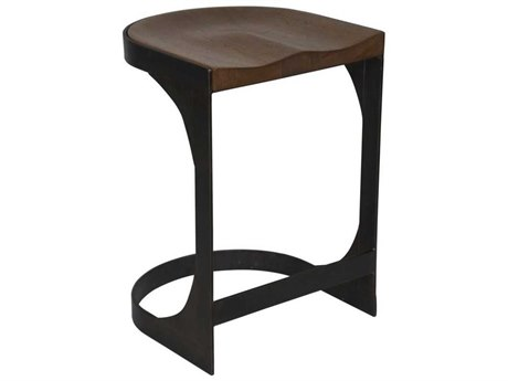 Noir Furniture Baxter Dark Walnut Counter Stool