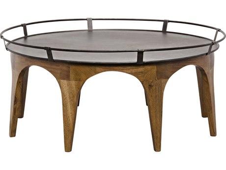 Noir Furniture Porter Dark Walnut 45.5'' Round Cocktail Table