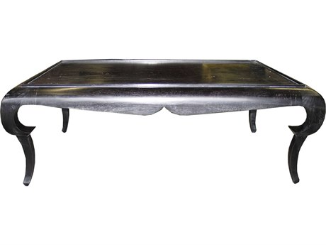 Noir Furniture Rena Hand Rubbed Black 52'' x 36'' Rectangular Coffee Table
