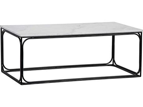 Noir Furniture Outside In Metal & Quartz 48.5'' x 24.5'' Rectangular Coffee Table