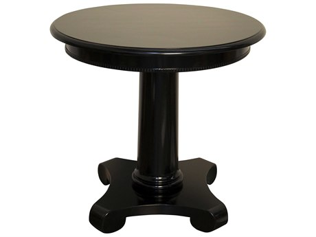 Noir Furniture Antigua Black 30'' Round Foyer Table