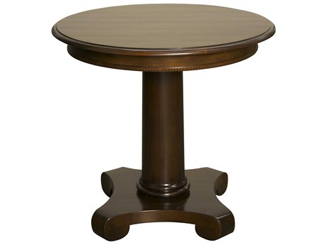 Noir Furniture Antigua Distressed Brown 30'' Round Foyer Table