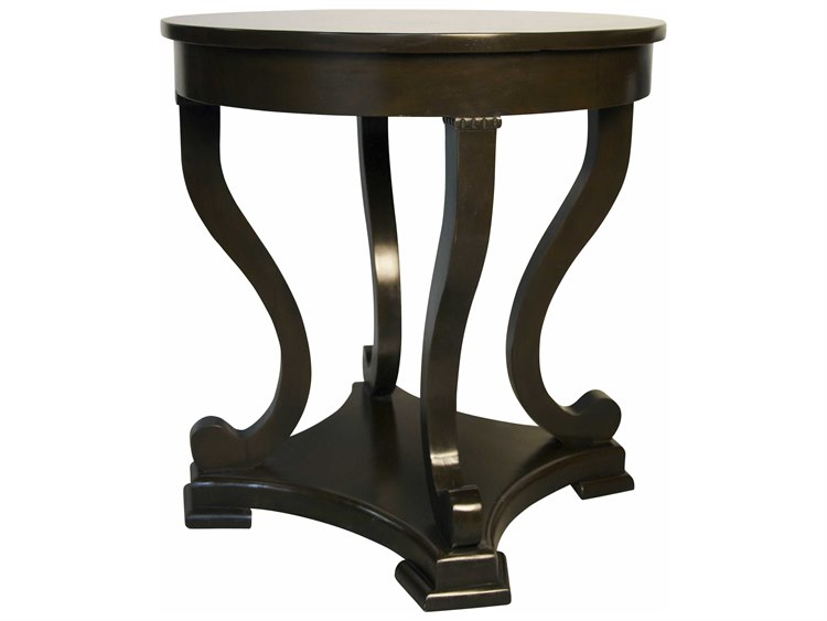 Noir Furniture Bilbao Distressed Brown 26 Round Foyer Table Noigtab225d