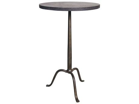 Noir Furniture Cosmopolitan Stone & Metal 15'' Round Pedestal Table