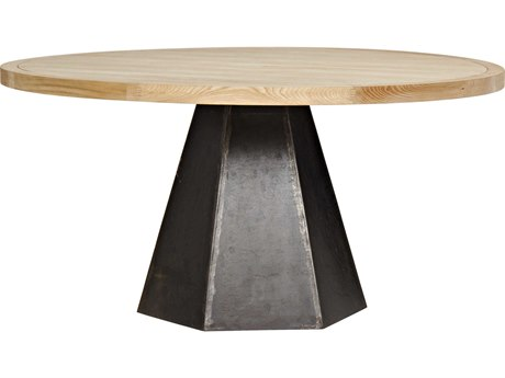 Noir Furniture Arezo Metal & Elm 60'' Round Dining Table
