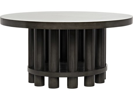 Noir Furniture Hiro Pale 60'' Round Dining Table