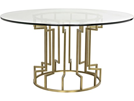 Noir Furniture Spool Gold 60'' Round Dining Table