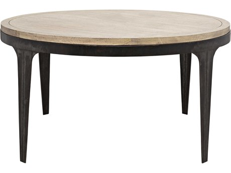 Noir Furniture Rodolfo Washed Walnut 57.5'' Round Dining Table