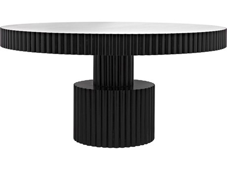 Noir Furniture Luther Hand Rubbed Black 59.5'' Round Dining Table