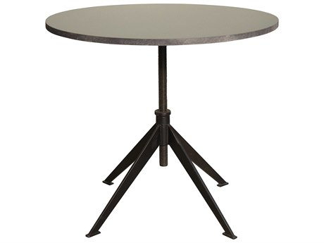 Noir Furniture Matilo Stone & Metal 30'' Round Dining Table