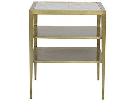 Noir Furniture Queen Victoria Gold 20'' Square Side Table