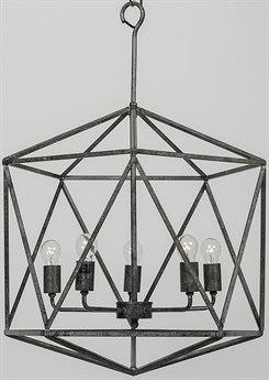 Noir Furniture Alden Antique Five-Light 21.5'' Wide Chandelier