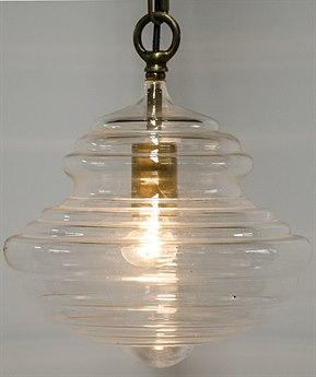 Noir Furniture Toe Antique Brass 10.5'' Wide Pendant Light