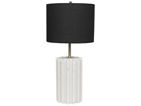 Noir Furniture Gogol White Stone Buffet Lamp