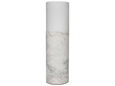 Noir Furniture Serafin White Marble Buffet Lamp