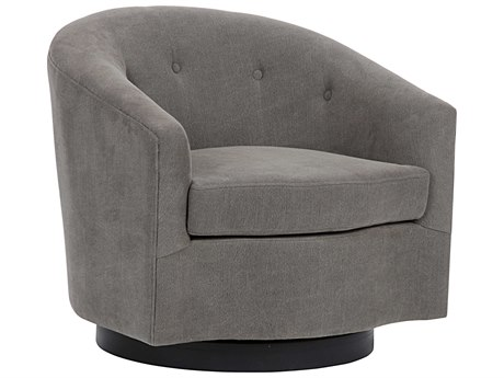 Noir Furniture Madison Grey Swivel Club Chair