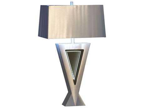 Nova Vectors Silver & Clear Table Lamp