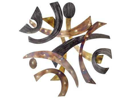 Nova Harvest Brushed Nickel & Flame Treated Steel Wall Art