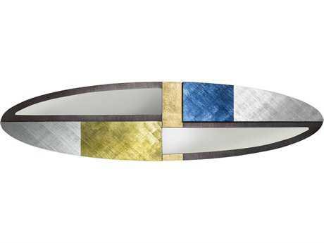 Nova Strand 56'' x 12'' Oval Down Pour & Sage Brush Wall Mirror