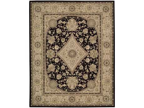 Nourison 2000 Rectangular Black Area Rug