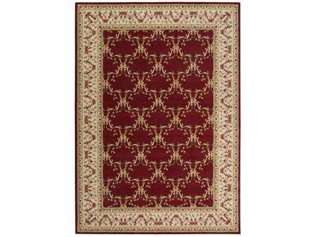 Nourison Ashton House Rectangular Burgundy Area Rug