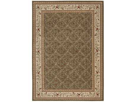 Nourison Ashton House Rectangular Olive Area Rug
