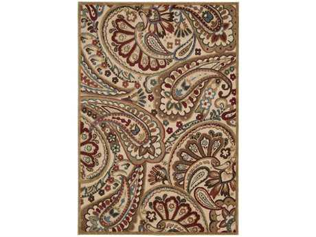 Nourison Graphic Illusions Rectangular Light Beige Area Rug