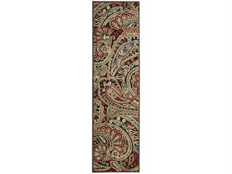 Nourison Graphic Illusions 2'3'' x 8' Runner Red Area Rug