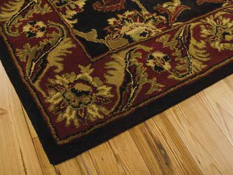 Nourison India House 2'3'' x 7'6'' Runner Black Area Rug